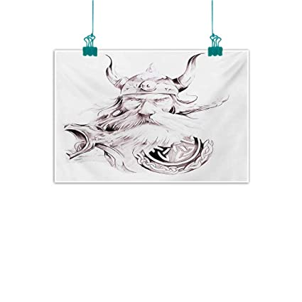 ae53c0c8ee07 Amazon.com: Modern Frameless Painting Tattoo Wise Old and Brave ...