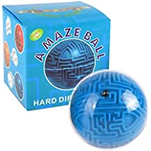 Magic 3D Maze Ball Interesting Labyrinth Puzzle Game Challenging Toy Gift For Kids (Blue)