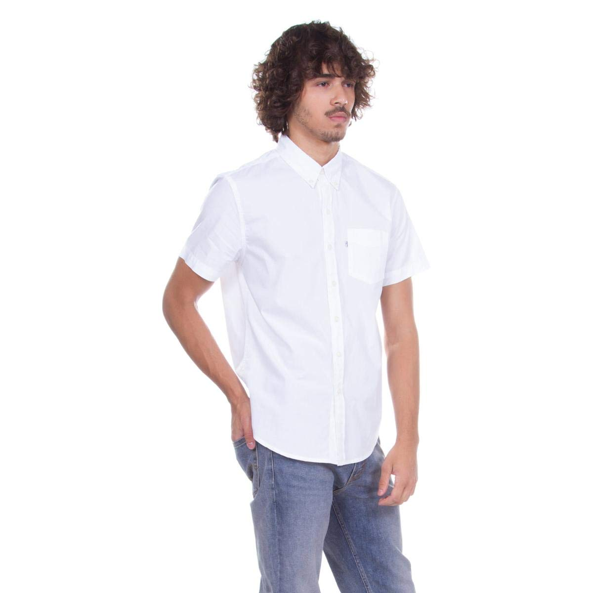 2a3a8864f26e2 Camisa Levis Masculino Sunset Classic One Pocket Branco  Amazon.com.br   Amazon Moda