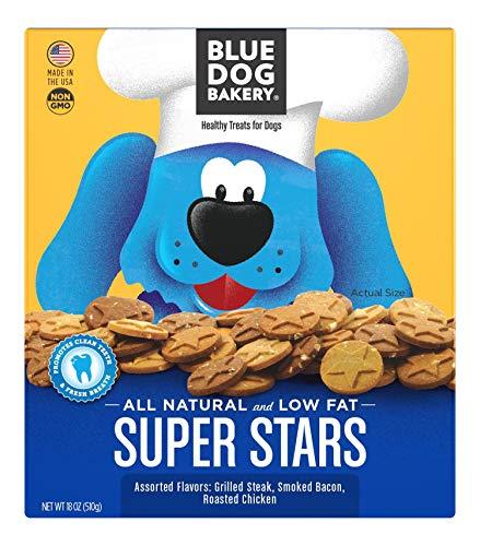 Blue Dog Bakery Natural Dog Treats, Super Stars, 18oz Pack of 6
