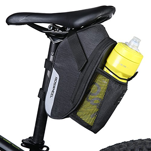 ArcEnCiel Bike Saddle Bag Waterproof Bicycle Strap-On Seat Pack Bag Cycling Wedge Water Bottle Holder