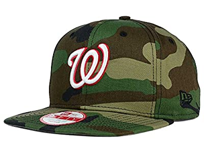 New Era 9Fifty MLB Washington Nationals Hat State Clip Snapback Woodcamo One Size Cap