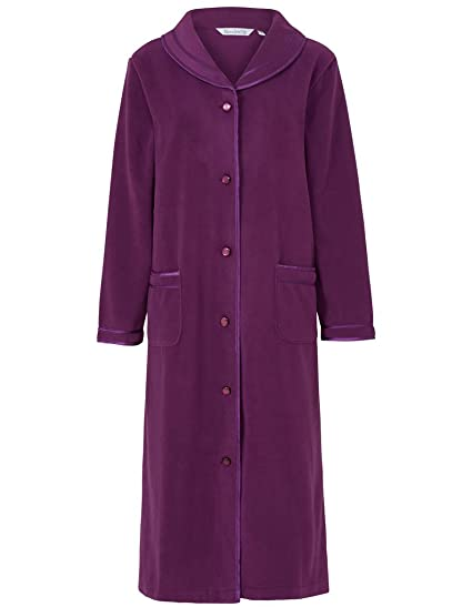 a35ba778dd81 Slenderella HC6321 Women s Purple Dressing Gown House Coat Robe ...