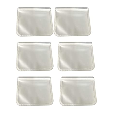 UPKOCH 6 bolsas de silicona reutilizables para ...
