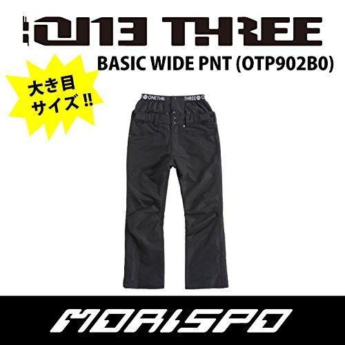 ONE THREE ワンスリー BASIC WIDE PANT OTP902B0 17-18 スノーボードウエア メンズパンツ B079TNGD47 4L|009[BLACK] 009[BLACK] 4L