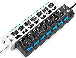 Hub Usb 7 Portas 2.0 Hd Extensor Pen Drive Hd - PRETO