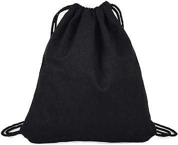 LAAT Drawstring - Mochila para deporte, de algodón, color negro: Amazon.es: Deportes y aire libre