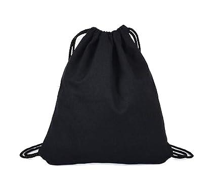LAAT Bolsa y mochila de tela de algodón unisex para niños o adolescentes, diseño con dibujos de animales