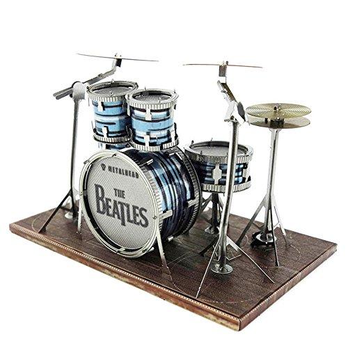 DIY The Beatles Colorizedドラムセットナノメートル3dメタルモデルキットの商品画像