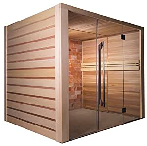 Sauna tradicional ALTO sal con pared De sal