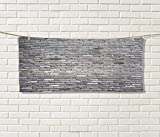 Anniutwo Grey,Travel Towel,Image an Aged Old Rough Brick Wall Obsolete Concrete Structure Ragged Surface,Quick-Dry Towels,Grey Size: W 14'' x L 27.5''