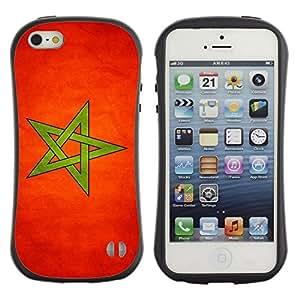 Paccase / Suave TPU GEL Caso Carcasa de Protección Funda para - National Flag Nation Country Morocco - Apple Iphone 5 / 5S