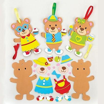 Amazon Com Baker Ross Teddy Bear Picnic Mix Match