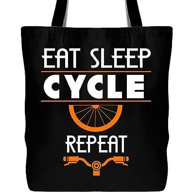 88c5cf2e0c8f9 Amazon.com: Eat Sleep Cycle Repeat Tote Bags, I Love To Cycle Canvas ...