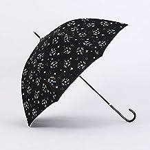 KHSKX-Small New Female Wind Umbrella Straight Umbrella Long Umbrella Umbrella Small Suihua Camellia Wave Umbrella