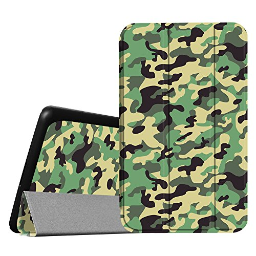 Fintie NVIDIA Shield Tablet K1 SlimShell Case - Slim Lightweight Stand Cover with Auto Wake/Sleep Feature for 2015 NVIDIA Shield Tablet K-1 8.0 Inch, Fit for 2014 NVIDIA Shield 2 8, Camo Green