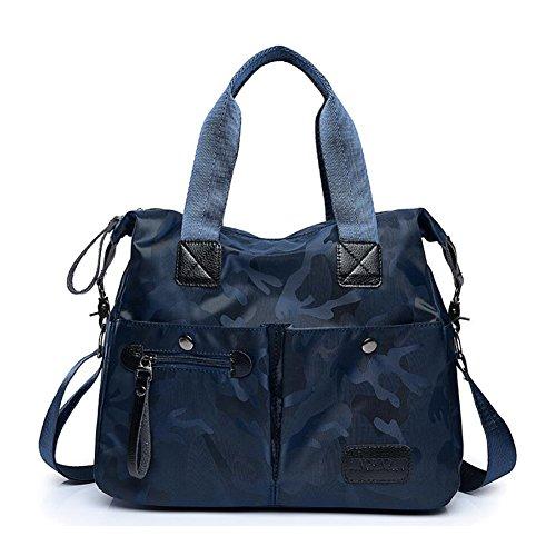 hombro para de Bolsas de de bolsillos mujeres de del las cuerpo del que Color recorrido YAN Blue trabajos múltiples casuales mensajero nylon bolso Blue salir cruzado de acampan 6fqnRz