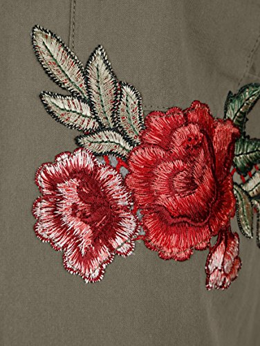 Dress mit in Pflegeleicht Damen Stickerei by Blusenjacke Khaki qtvry1q