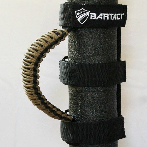 (Bartact TAOGHUPBC - Universal Paracord Grab Handles (PAIR) - BLACK/COYOTE)