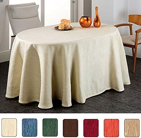 BELMARTI Falda para Mesa Camilla Ovalada, Modelo Soria, Color Visón, Medida 90x135cm: Amazon.es: Hogar