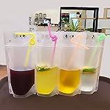 AMZLUCKY - 20Pcs/Lot 500ml Cold Beverages Ziplock Bag Tea Bags...