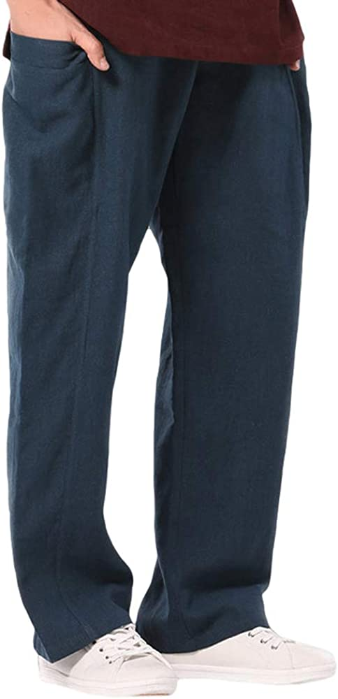 hibote Pantalones de Chándal para Hombres Cintura Alta Pantalones ...