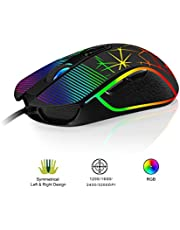 Accro Xtrem Ambidextrous Gaming Mouse Wired Computer PC Optical USB 1200-3200 DPI Adjustable with Fire Button Ergonomic Comfortable Grip for All Hand Sizes Laptop Gamer