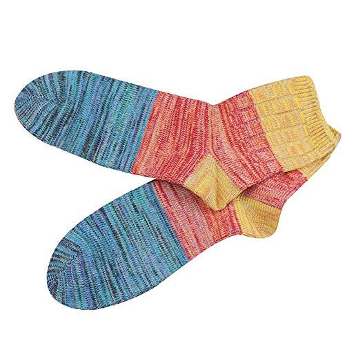 Mens Splice Color Socks,Realdo Men's Casual Fashion Deodorization Medium Stockings Breathable Cotton Socks ()