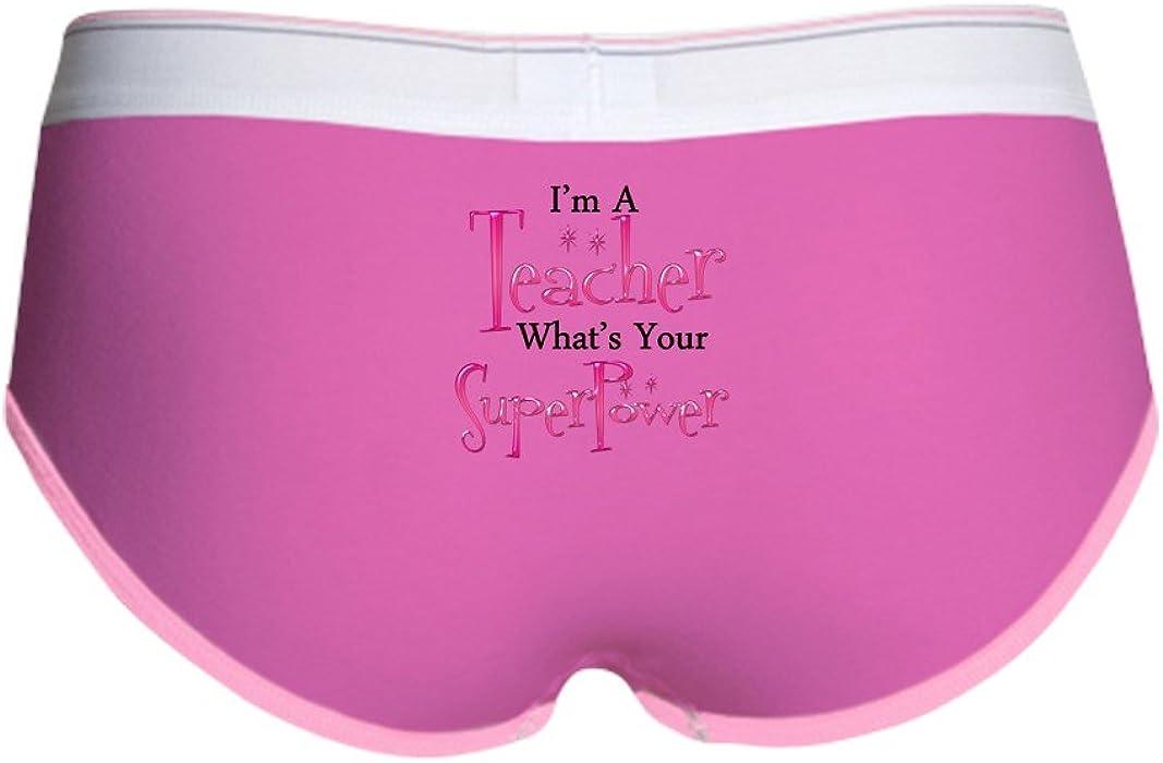 8fe74b881ab7 Amazon.com: CafePress - Super Teacher - Women's Boy Brief, Boyshort Panty  Underwear with Novelty Design Fuchsia/Pink: Clothing