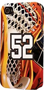 Basketball Sports Fan Player Number 52 Plastic Snap On Decorative iPhone 4/4s Case