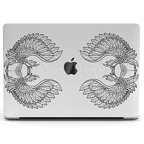 Wonder Wild Mac Retina Cover MacBook Pro 15 inch 12 11 Clear Hard Case Air 13 Apple 2019 Protective Laptop 2018 2017 2016 2015 Plastic Print Touch Bar Boho Beetle Scarab Wings Egypt Mandala Feathers