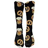 Style Unisex Socks Casual Knee High Stockings Pretzel Beer Cotton Socks One Size