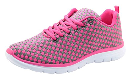 Air Tech Womens Summer Breathable Shoes Sport Running Trainer Sneaker Ipanema-Lt Grey Rose