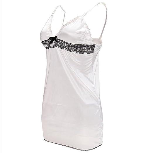 Friedman Lingerie Lady Underwear Lace White Babydoll Sleepwear with G-String Sleeping Wear Lack Tight