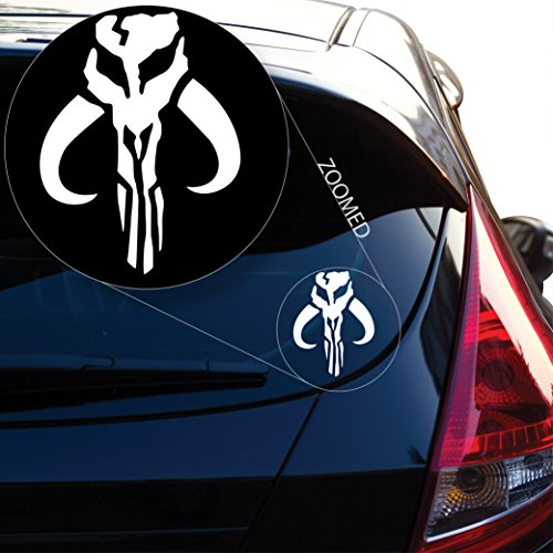 - Yoonek Graphics Jaing Head Boba Fett Bounty Hunter inspired Star Wars Decal Sticker for Car Window, Laptop and More. # 489 (4