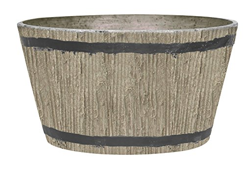 Stone Light DL Series Cast Stone Planter, Size - 16  x 16 x 9.5 inches, Color - Sand Stone