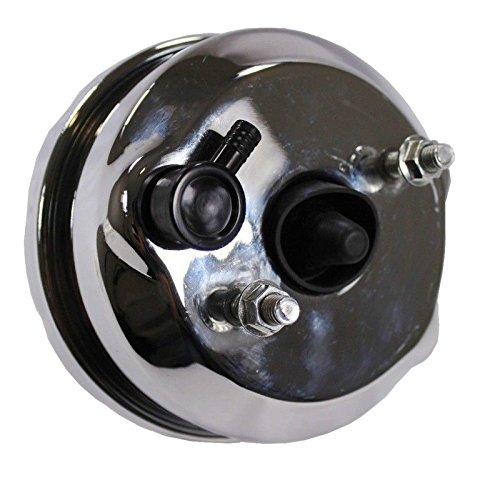 7 Dual Diaphragm Chrome Brake Booster Hot Rod Street /& GM Chrome Aluminum Brake Master Cylinder /& Brake Proportioning Valve
