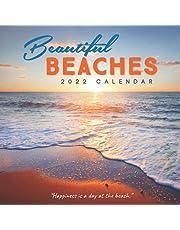 Beautiful Beach 2022 Calendar: 12-month mini Calendar 2022 8.5 x 8.5 inches