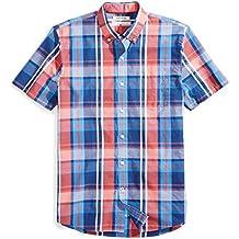 Goodthreads Men's Standard-Fit Short-Sleeve Large-Scale Plaid Shirt