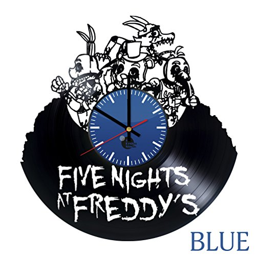 Five Nights at Freddy's Golden Freddy Vinyl Record Wall Clock - Get unique bedroom wall decor - Gift ideas for siblings, kids - Game Unique Art Design - Leave us a feedback and win your custom clock