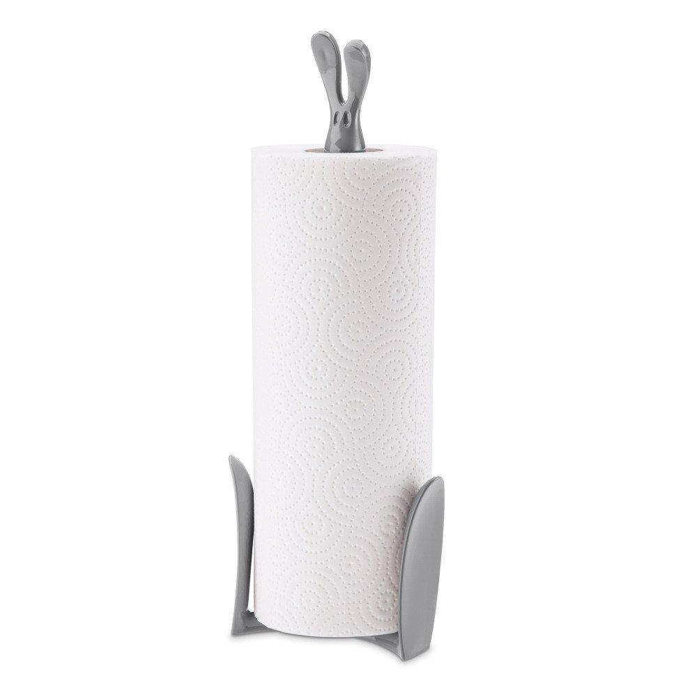 Koziol Porta rotolo di carta da cucina Roger, Plastica, Cool Grey, 11,6x 12,3x 33,4cm 5226632