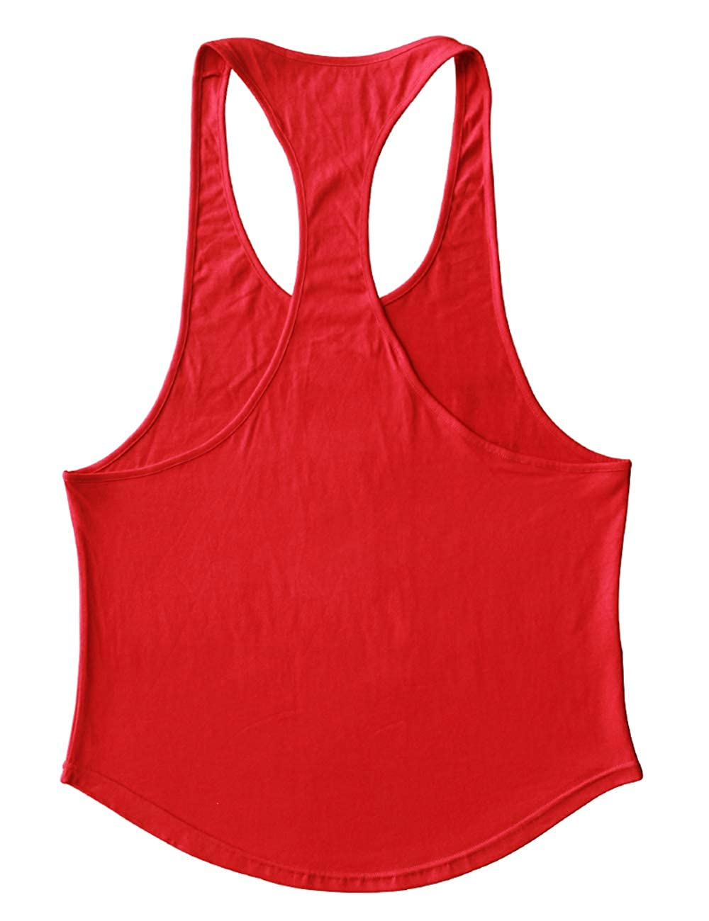 Mens Stringer Gym Bodybuilding Tank Tops Cotton for Workout with Arch Hem