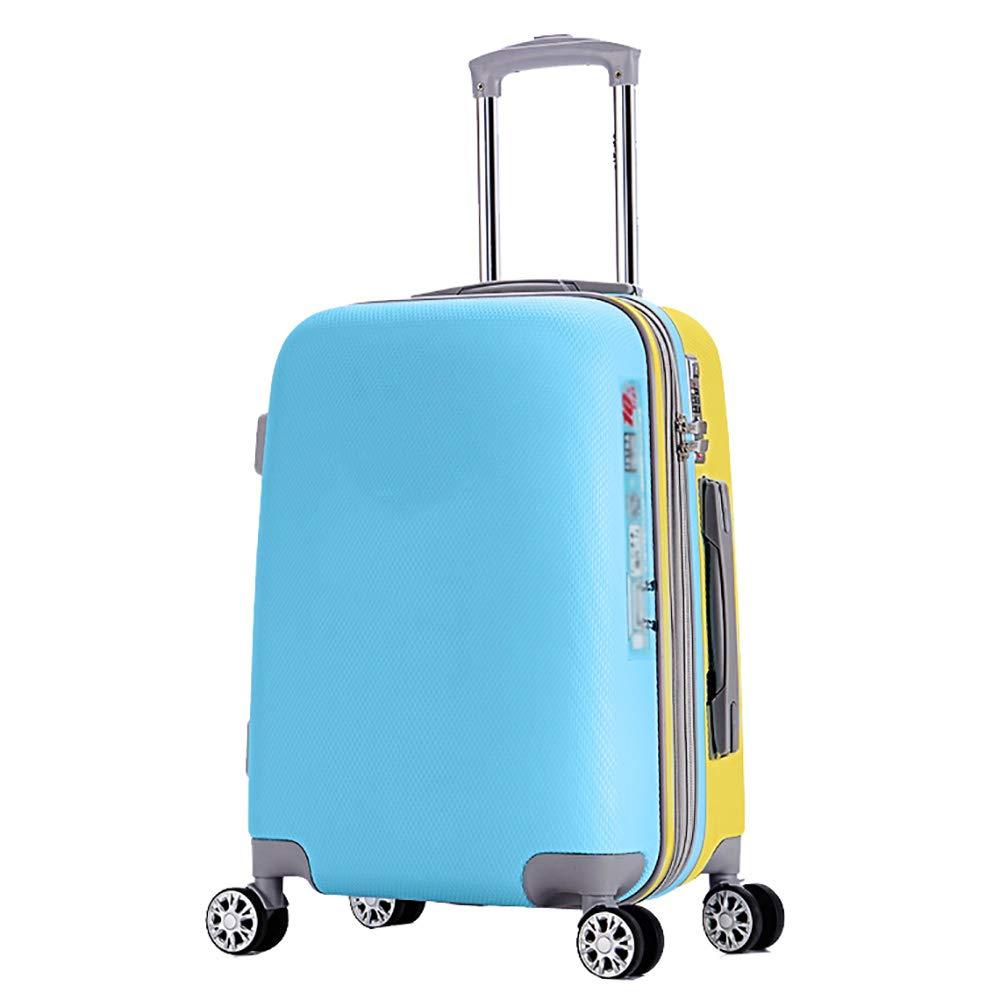 トロリーの荷物の人格20インチのパスワードボックスの学生の小さな箱のパッケージのスーツケース青   B07KV12TFV