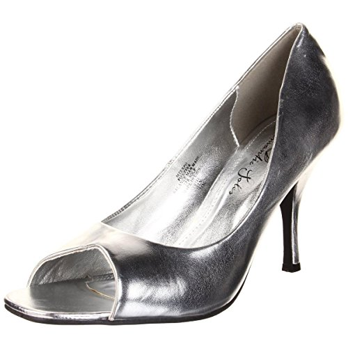 Womens Dress Soles Romantic (Romantic Soles Women's Expo Slip-On Dress,Silver Metallic,9 M US)