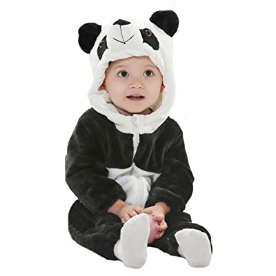 Tonwhar Baby Animal Cat Onesie Romper Halloween Costume: Clothing