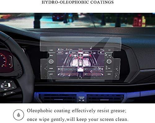 XHULIWQ スクリーン保護フィルムカーナビゲーションタッチセンターディスプレイスクリーン9H強化ガラススクリーンプロテクター、フォルクスワーゲンジェッタ用