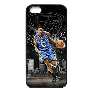iPhone 5/5s TPU Case with Oklahoma City Thunder Kevin Durant Image Background Design-by Allthingsbasketball