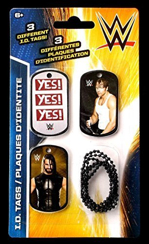 Wwe Dog Tags (WWE Wrestlers Dean Ambrose & Seth Rollins ID Dog Tags Series 2 - Set I - 3 Count)