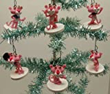 """Pink Panther 6 Piece Holiday Christmas Tree Ornament Set Featuring 2"""" Shatterproof Plastic Pink Panther Ornaments"""
