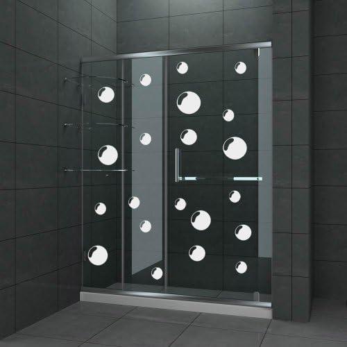 Vinylworld Juego de 21 Pegatinas para Puerta de Ducha y mampara de baño, diseño de Burbujas: Amazon.es: Hogar